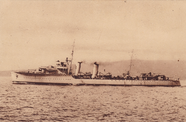 "The Portuguese destroyer ""Vouga"""