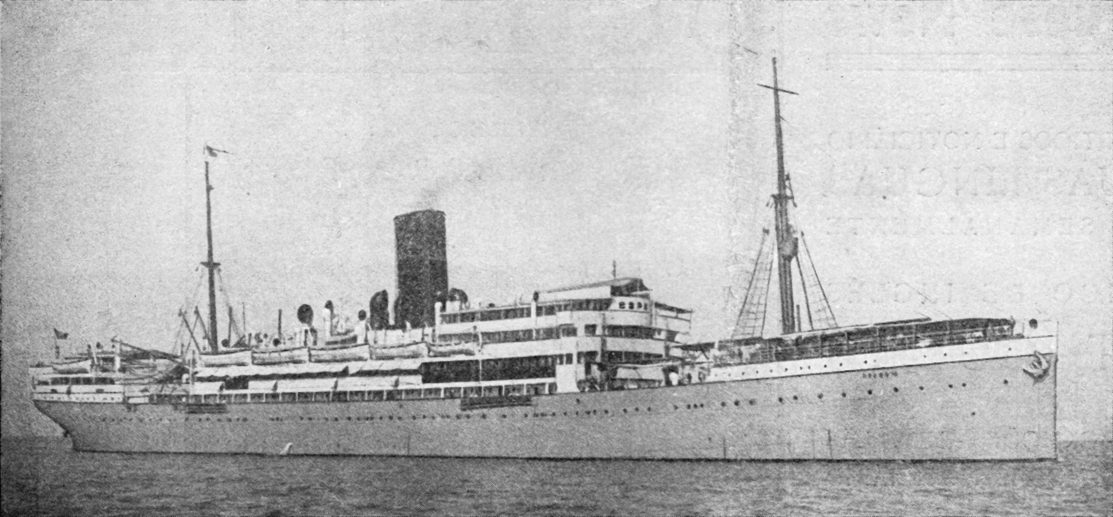 fotografia do navio Nyassa