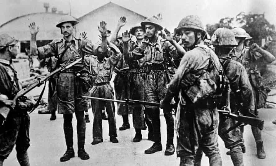 Rendição das forças britânicas ao exército japonês em Singapura.